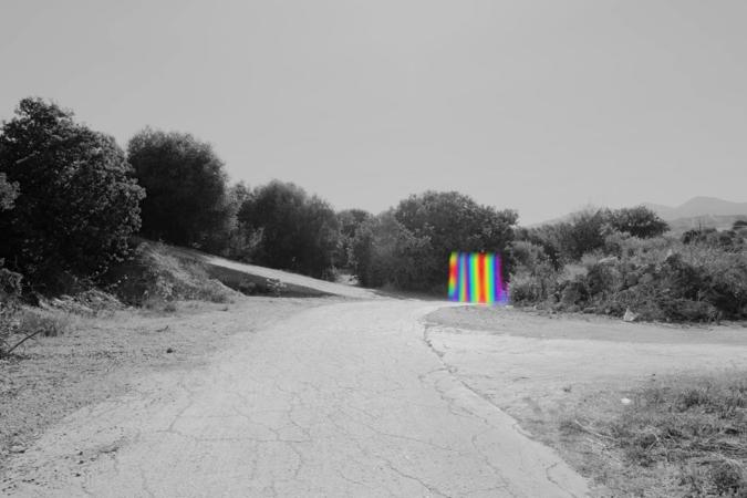 Alexis Vasilikos, Untitled (Rainbow), 2013, Inkjet print on fine art paper mounted on aluminium, 30x20cm, Courtesy of CAN Christina Androulidaki gallery