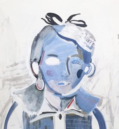 Augusta Atla Van Fogh, Lola, 2018, oil on canvas, 95x100cm