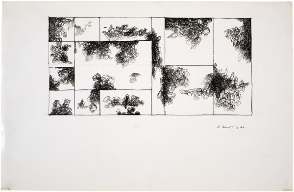 Dimitris Condos, Untitled, Athens 1966, Ink on paper, 35x50cm