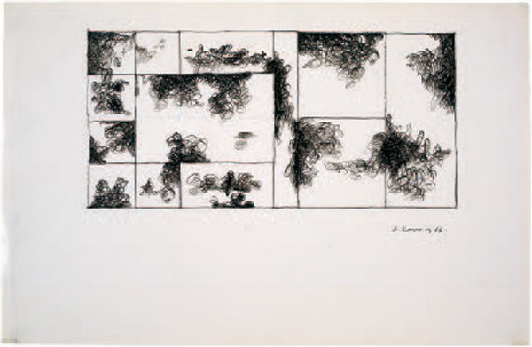 Dimitris Condos, Drawings, Athens 1966, Ink on paper, 35x50cm