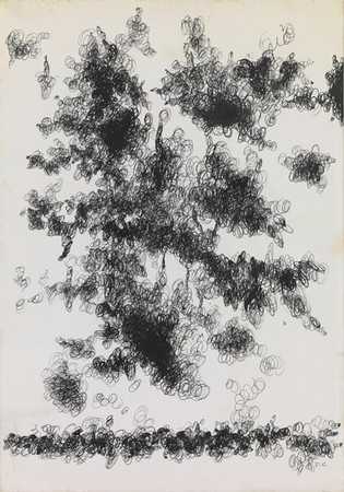 Dimitris Condos, Untitled (Writing), c.1965, Ink on paper, 34x48cm