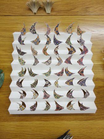 Nikos Alexiou, Sails, handmade cut out paper on print, 19x20cm, Ed. of 11