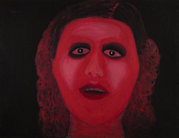 Celia Daskopoulou, Dracula's fiance, 1971, Acrylic on canvas, 90x116cm