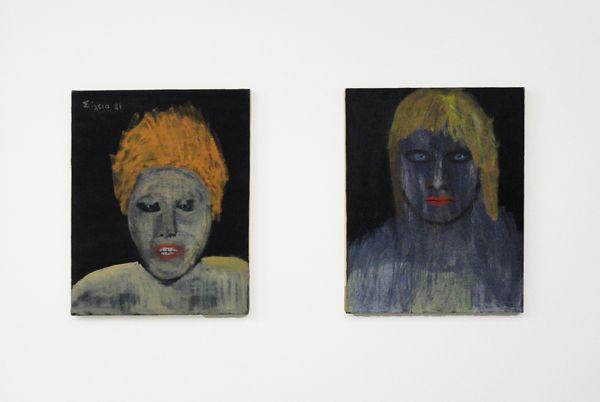 Celia Daskopoulou, Untitled, 1981, Oil on canvas, 50x40cm and Celia Daskopoulou, Untitled, 1981, Oil on canvas, 50x40cm