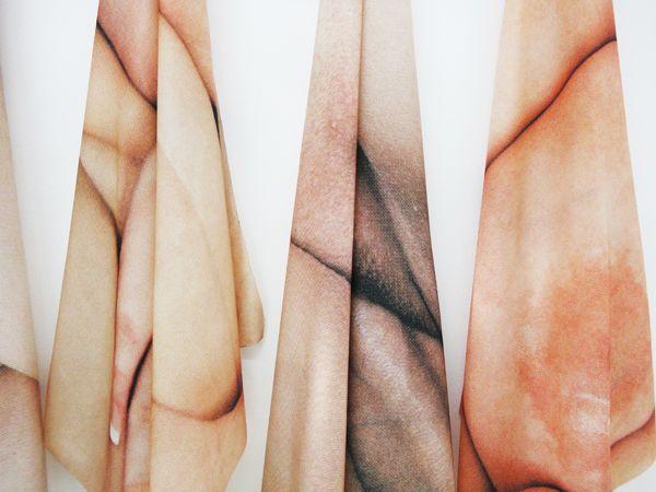 Alix Marie, Les Gatiantes, 2016, 10 pornographic magazine images scanned and printed on poly-satin fabric through dye sublimation technique, 100x100cm each, Unique, detail