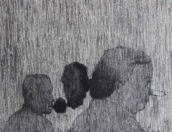 Katerina Christidi, Untitled, 2007, Coal on canvas, 27x35cm, Courtesy of Ileana Tounta Contemporary Art Center