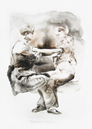 Marianna Ignataki, Betty was a monster, 2014, watercolor on paper, 57x42cm