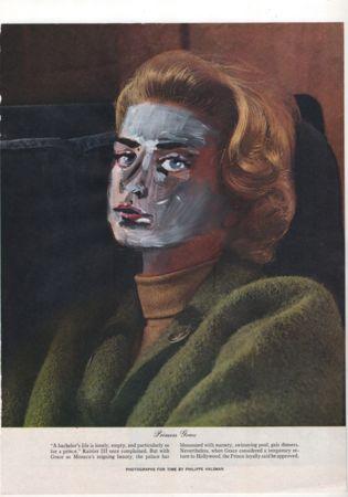 Irini Karayannopoulou, Princess Grace, acrylic on offset print, 21x28cm