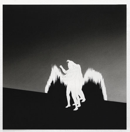 Dimitris Baboulis, The right direction, 2012, india ink on paper, 60x62cm