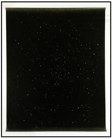 Lefteris Tapas, Nightscape, 2014, Waxed paper cut-out, 74x58cm, Courtesy of CAN gallery, framed