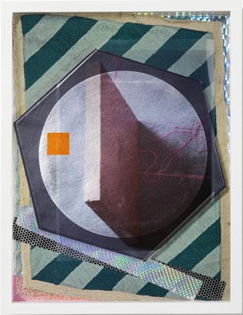 Yudi Noor, White Night Satin, 2012, Mixed media collage, 42x32x5cm