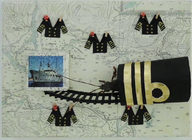 Capten, Α-478, Ωκεανογραφικο ΝΑΥΤΙΛΟΣ, 2011, mixed media, 18x24cm