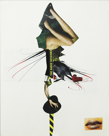 Katerina Kana, Radio sessions, 2013, collage on paper, 46x54cm