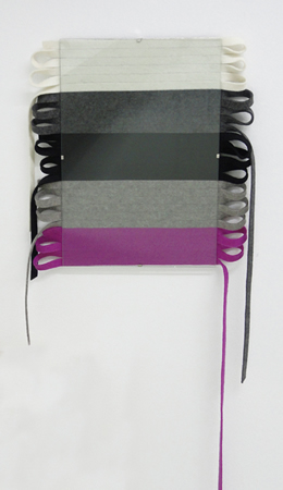Tula Plumi, Untitled, 2013, wool strings, clip frame, 38x32cm