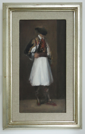 Ilias Papailiakis, Untitled, Oil on canvas, 30x16cm