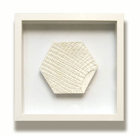 Efi Spyrou, Tramp in, 2011, giluform synthetic plaster, 24x25cm, framed, unique