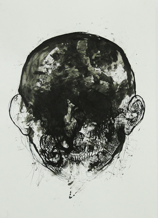Dimitris Protopapas, Untitled, 2013, ink on paper, 42x29cm
