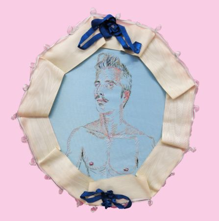 Konstantinos Ladianos, A., 2016-18, embroidery on fabric, 35x38cm