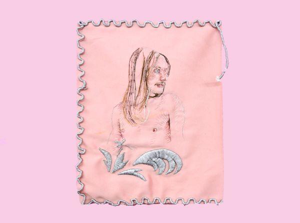 Konstantinos Ladianos, Souvenir Turc, 2016-18, embroidery on fabric, 27x37cm