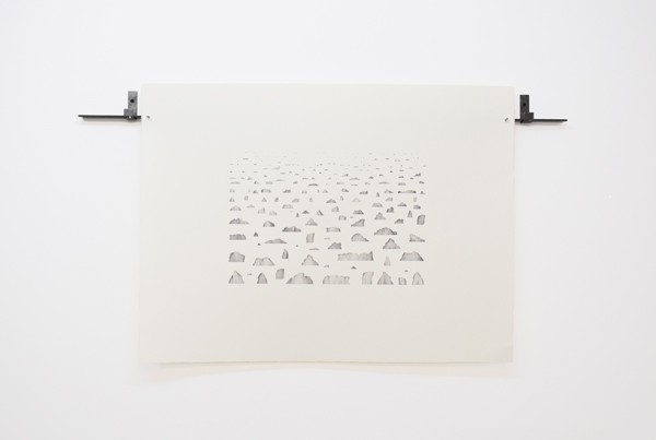 Lefteris Tapas, Archipelago II, 2019,  pencil on paper, 56x76cm Courtesy of CAN Christina Androulidaki gallery