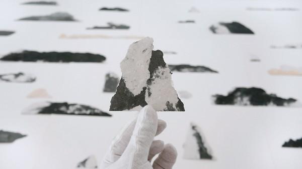 Lefteris Tapas, Island, 2019,  paper, graphite, stone pigments,  Courtesy of CAN Christina Androulidaki gallery