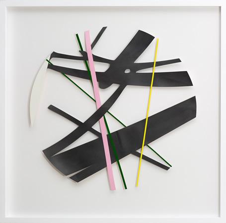 Lefteris Tapas, Untitled, 2011, graphite and  acrylics on cut-paper, 100x100cm