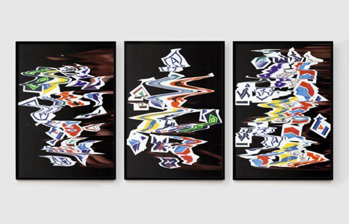 Liquid Logo Series No 6, 1 and 5, 2014, Inkjet Print on Fine Art Paper,  128x179cm, ed.3