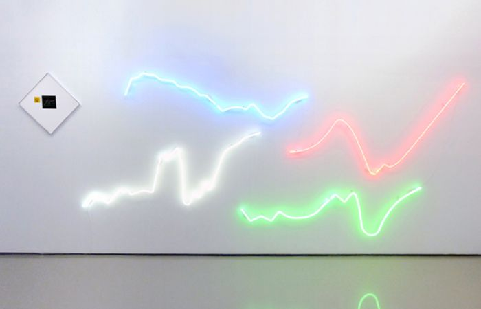 From Fact To Fantasy To Fake Fiction, 2015, C-prints on Fujifilm Paper and Neon  Lights, dimensions variable