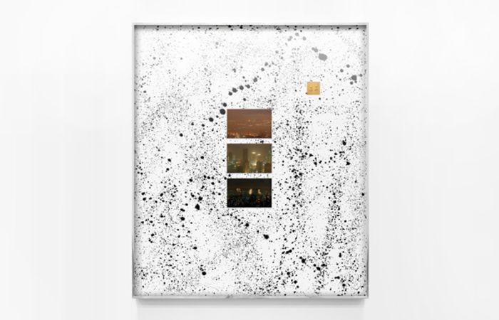 Cryptic Craze (Athens, Doha, Blade Runner City), 2015, C-prints on Fujifilm  Paper and Liquid Tar on Matboard, 93,4x79,8cm