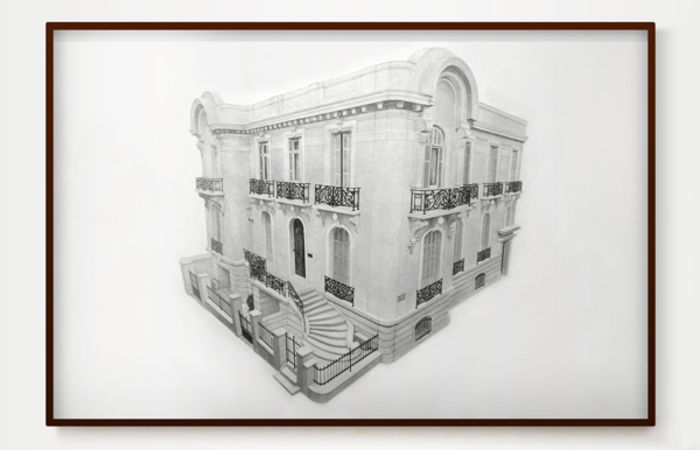 Untitled (Navarchou Nikodimou & Thoukydidou, Plaka, Athens), 2012, Pencil on Paper, 171,5x114cm and video, 6'19''