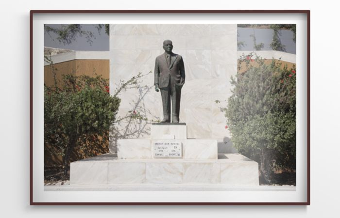 Statue of Ioannis D. Pateras, 2012, Inkjet Print on Fine Art Paper Mounted on Dibond, 100x70cm, framed, ed.3