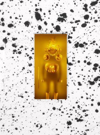 Crystal Cravings, 2015, C-prints on Fujifilm Paper and Liquid Tar on  Matboard, 93,4x151cm, detail