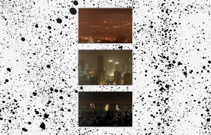 Cryptic Craze (Athens, Doha, Blade Runner City), 2015, C-prints on  Fujifilm Paper and Liquid Tar on Matboard, 93,4x79,8cm, detail
