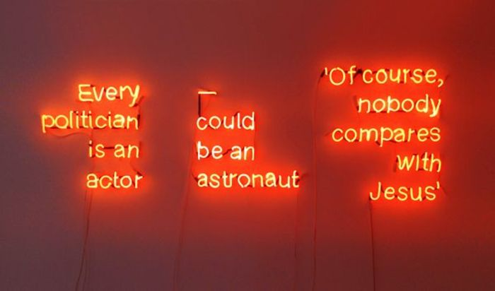 Maria Kriara, Untitled, 2017, Neon Light, ap.210x70cm, Unique Courtesy of CAN Christina Androulidaki gallery and the artist