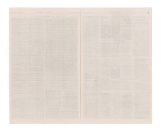 Maria Kriara, Enduring Ephemera (pp.27-34), 2016, Sanded newspaper pages, 72x59cm Courtesy of CAN Christina Androulidaki gallery and the artist