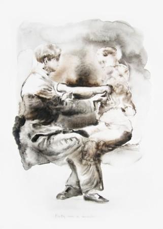 Marianna Ignataki, Betty was a monster 2014, watercolor on paper, 57x42cm