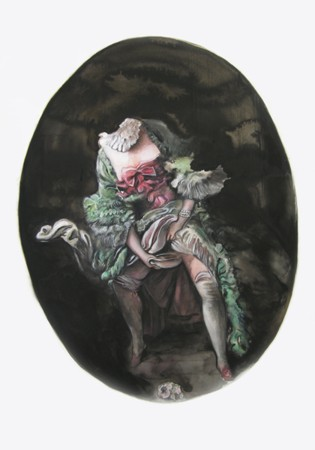 Marianna Ignataki, Adore me, 2014 77x57cm, watercolor, gouache, colored pencil, pastels on paper