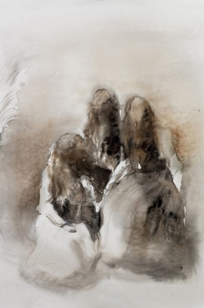 Marianna Ignataki, Nest I, 2016, 56x38cm, watercolor and pencil on paper