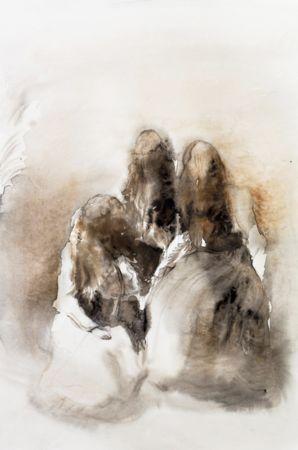 Marianna Ignataki, Nest I, 2016, watercolor and pencil on paper, 56x38cm