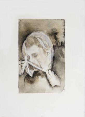 Marianna Ignataki, The Shield I, 2016, watercolor, pencil, colored pencil and pastel on paper, 28x19cm
