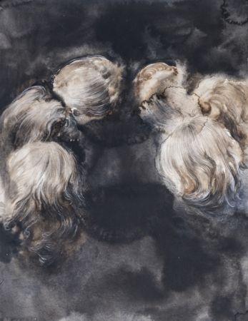 Marianna Ignataki, The Circle, 2014, watercolor, gouache, pencil and pastel on paper, 43x33cm