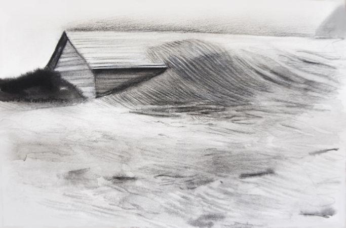 Marianna Ignataki, The Wrap, 2017, watercolor, pencil, colored pencil and pastel on paper, 14,5x22,5cm