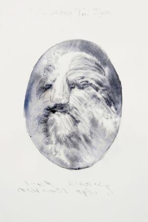 Marianna Ignataki, Hairman I (Su Kong Tai Djin), 2016,  watercolor and pencil on paper, 28x19cm