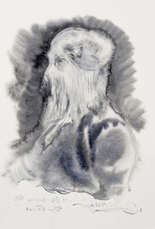 Marianna Ignataki, Hairman IV, 2016, watercolor and pencil on paper, 28x19cm