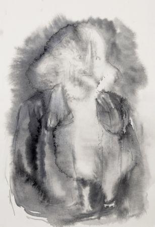 Marianna Ignataki, Hairman VIII, 2016, watercolor and pencil on paper, 28x19cm