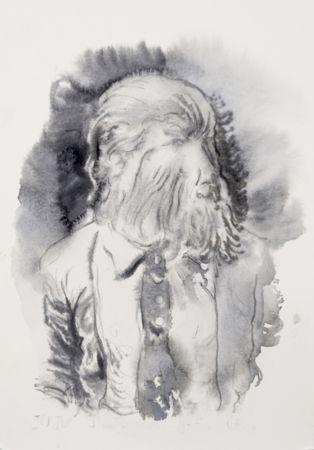 Marianna Ignataki, Hairman V, 2016, watercolor and pencil on paper, 28x19cm