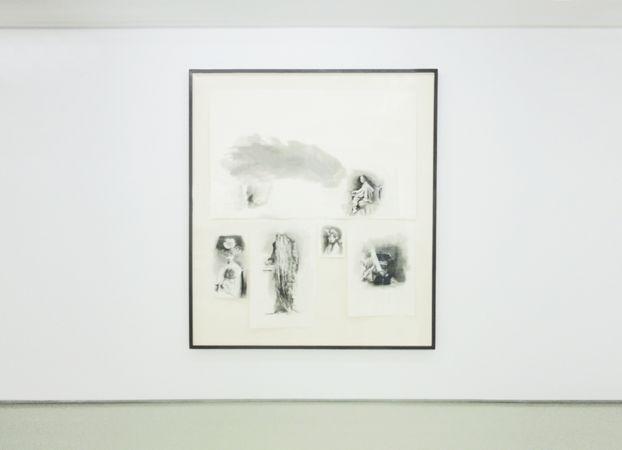 Marianna Ignataki, The Shield (Hùdùn护盾) II, 2017, watercolor, pencil, colored pencil and pastel on paper, 143x163cm