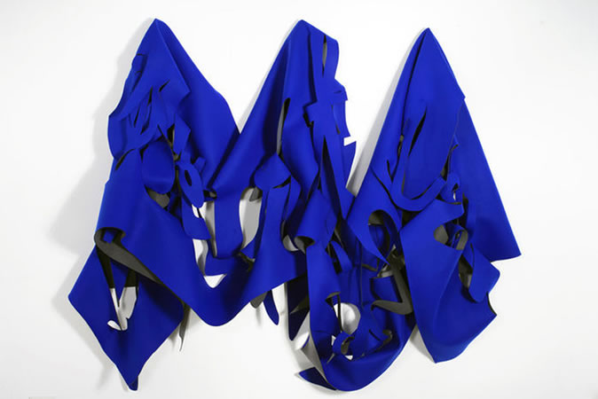 :mentalKLINIK, Overthere (Blue), 2009, The chroma key cloth, 248x231cm