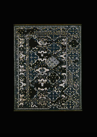:mentalKLINIK, Untitled 436, 2011, Wool, handwoven carpet, high polished bronze, 193x249cm