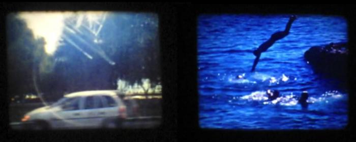 Natasa Efstathiadi, Diving, dualview, 3-minute, 16mm film